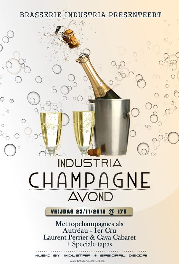 Brasserie industria Asse champagne avond 2018